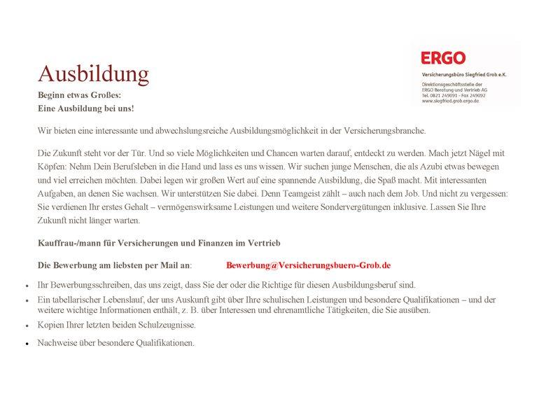 ERGO Versicherung Siegfried Grob in Gersthofen | Ergo | ERGO